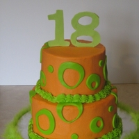 Orange & Green Made for my friend's daughter's 18th birthday. Her favorite colors are orange & green.