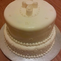 Baptism/christening Cake Done for a baptism, but could be duplicated for a first communion