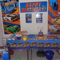 My Son's 5Th Birthday!!!! My first car cake, cake pops, and cake.