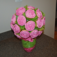 Bouquet Of Rose 29 regular cupcakes! For a baby shower!