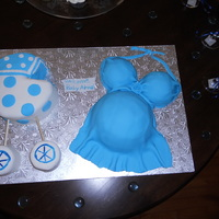 My Baby Shower Cake Made my own baby shower cake at 8 months preggo