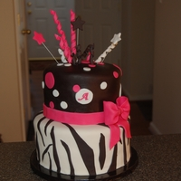 Zebra And Dots   Bottom tier WASC and top red velvet