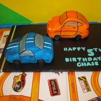 Racing Cake My son LOVES cars, so he asked for a porsche and a corvette. I tried my best and this is what I came up with. Wasn't happy with the...