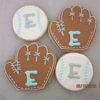 Baseball Baby Shower Cookies these were used for favors to match the cake. NFS cookies with RI. TFL!