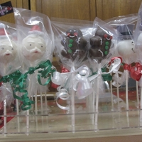 Christmas Cake Pops Ever since I saw these frosty on bakerella, I had to make them. I aslo made santa and gingerbread man. My dad made me the stand, which came...