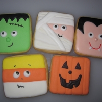 Halloween Cookies   I first saw these on Lila Loa's blog. OMG, they were so cute, I had to make them. Hers came out way better. NFSC with RI.