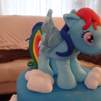 Rainbow Dash Cake Fondantgumpaste Figure Cake Was Chocolate With Chocolate Bc Tfl Rainbow Dash CakeFondant/Gumpaste figure.Cake was chocolate with chocolate bctfl