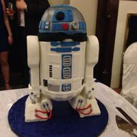 R2D2 Wedding Cake Finally tried and r2d2 cake for my Wedding! After a false start and minor meltdown I got it to work. Took me the entirety of a week to do....