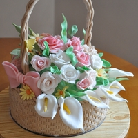 Calla Lilly Flower Basket