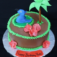 Rio 2 Movie Premier Birthday Cake Vanilla Cake With Chocolate Buttercream Filling And Icing Fondantgumpaste Macaw And Hibiscus Flowers Rio 2 Movie Premier Birthday Cake. Vanilla cake with chocolate buttercream filling and icing. Fondant/gumpaste macaw and hibiscus flowers....