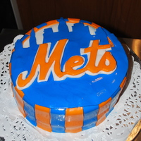 A Mets Cake I made this METS Cake for a friend birthday