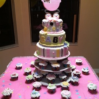 Baby Shower Cake For Daughter And Grandaughter   Baby Shower Cake for daughter and grandaughter :-)