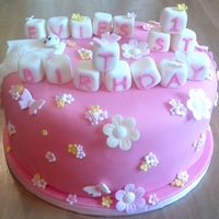 First Birthday Cake - Girly And Pink First birthday cake - Girly and pink