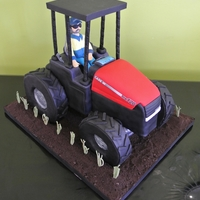 Tractor Cake Case tractor cake - It's absolutely all edible except the roof!