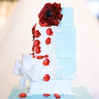 Red And Blue Cake Central Magazine Cake