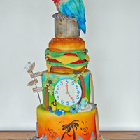 "Jimmy Buffet Grooms Cake Parrot Is Made From Rkt All Edible Materials Cake Measured 40 In Height Jimmy Buffet Grooms Cake Parrot is made from RKT all edible materials. Cake Measured 40"" in height"