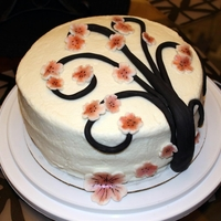 Cherry Blossom Cake   My daughter loves cherry blossoms so I made this as a quick project for her bay.