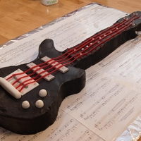 Guitar Cake  Guitar cake made for my nephew. I was visiting from out of townand they asked me to make a cake for him. No tools and less than an hour to...