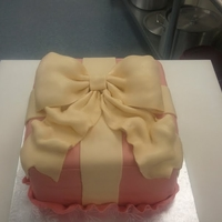 Bow Cake   Bow cake made for a customers bday, her design. TFL