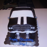 Chevelle Birthday Replica of a friend's Chevelle. Chocolate cake covered in fondant. Tires are styrofoam covered in fondant with fondant rims. First...