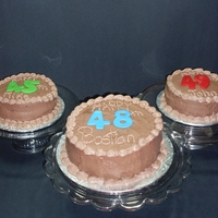 Three Birthday Cakes Birthday Cakes for Three Brothers that all have their Bithdays in September!