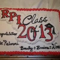 Rpi Class Of 2013 half van 1/2 choc buttercream transfer for Dr Heather Palmeri Just graduate from (RPI) Rensselaer Polytechnic Institute from Applied...