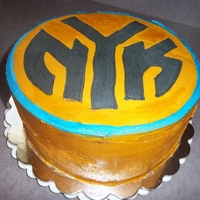 Ny Knicks Basket Ball Cake 4 Layers of chocolate cake wrapped in buttercream