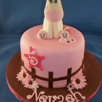Cowgirl Cake for a princess cowgirls birthday