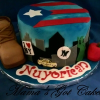 Nuyorican Themed Cake my husbands birthday cake he wanted a cake representing his roots