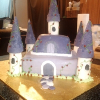 Princess Castle Cake This is a cake I made for a little girl's 5th birthday. Everything is edible. I have made the fondant myself thanks to an incredible...