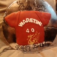 Liverpool Fc 40Th Birthday Cake This is the cake I made my husband for his actual birthday. He is a huge Liverpool fan. I had to make it very quickly while he was watching...