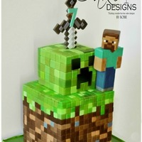 The Minecraft Cake The Minecraft CakeHere's a cake I made this weekend for my friend's son turning 7. She said that she tried to persuade...