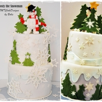Frosty The Snowman Tired of this cold weather in my side of the world, but just can't help sharing this photo of a cake I made during the holidays that I...