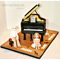 Piano Cake This is a cake I made for three celebrants in the family for Aug/Sept.