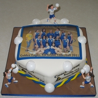 Volleyball Team Photo Cake