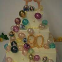 Cake Was White With Pineapple And Strawberry Filling Buttercream Icing Boarders Were Fondant Pearls Used The Gelatin Bubbles And Inser Cake was white with pineapple and strawberry filling, buttercream icing. Boarders were fondant pearls. Used the gelatin bubbles and...