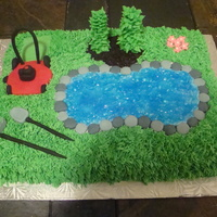 Landscaper Cake I made this cake for my best friend's husband's birthday who is a landscaper. Since it was a pool party I decided to incorporate...