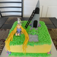 "Tangled I got a request to do a cake from the movie ""Tangled"". More and more people are requesting buttercream icing. The characters are..."
