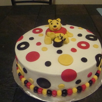 """winnie The Pooh"" Baby Shower Cake  I made this cake for a friend's baby shower. Her theme is ""Winnie The Pooh"". I am just learning how to make characters with..."