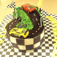 Racing Track Cake For the son of a friend