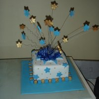 Explosion Cake Made in a cake decorating course I was taking- my very first explosion cake!!