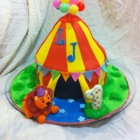 Circus Cake I made this for my nephews 1st birthday.My first attempt at a sculpted cake (free hand) and I made it on a very tight time frame (started...
