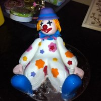 Cheeky Clown Cake Topper Modelled for a figurine making class. Clown cake topperMade from fondant with gumpaste. TFL!!