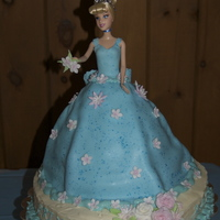 Cinderella Doll Birthday Cake This is the Cinderella doll cake I made for my daughter's 4th birthday. She wanted flowers on the dress, so it's not the typical...