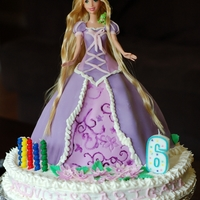 Rapunzel Doll Cake This is the Rapunzel doll cake that I made for my daughter's sixth birthday