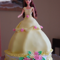 Belle Doll Cake I made this Belle doll cake for my daughter's 5th birthday. I was under a time crunch, so it's not perfect, but she loved it...