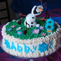 Olaf In Summer Birthday Cake This is the cake I made for my daughter's 8th birthday. The party theme was a Frozen Karaoke party for a June birthday, so she wanted...