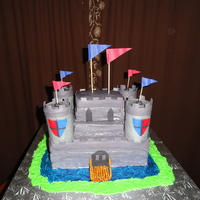 Boys Castle this was a cake for two little boys birthday parties. They didn't need as much cake as i needed to make it look like I wanted, so...