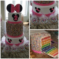 Minnie Mouse Sprinkle Rainbow Cake Minnie mouse, sprinkle rainbow cake.