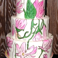 Lotus Blossom Cake This is a dummy cake I made for display. It was inspired my Maggie Austin, who I love and wish I could make cakes like. Everything is hand...